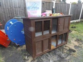 Large Double 2 tier rabbit hutch