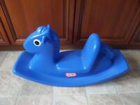 Little Tikes rocking horse - blue rocker - Collection from Brierley Hill DY5 area - £10.00