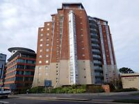Two bed 7th floor flat with sea views. ORP, Modern fitted kitchen & bathroom