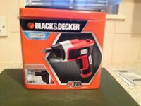 Black & decker screwdriver & tape
