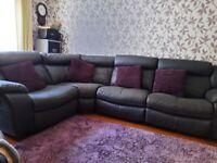 Large grey 4 section corner sofa