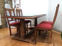 John Lewis solid teak table and 6 chairs