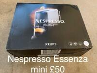 Nespresso Essenza Mini xn110140 coffee machine by Krups. Brand new.
