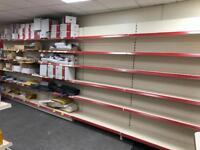 Shop shelving and fridges