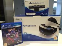 PS4 VR headset with PS camera and VR Worlds game