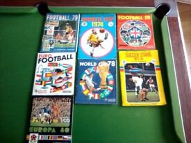 Panini and TKS Football Sticker Albums. All 100% Complete.