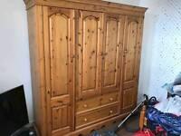 solid wood cupboard
