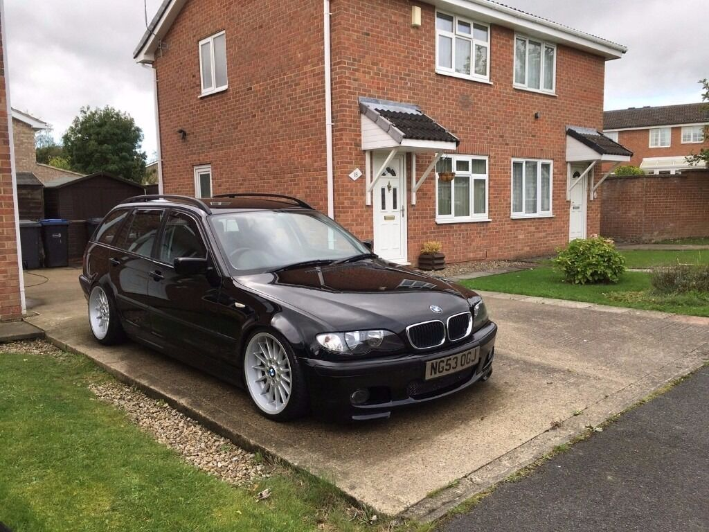 2004 bmw 320 d 3 series e46 touring estate black diesel in newton aycliffe county durham. Black Bedroom Furniture Sets. Home Design Ideas