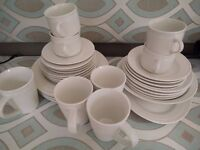Dinner Tableware Set (4 person setting) - plus serving bowl and plate