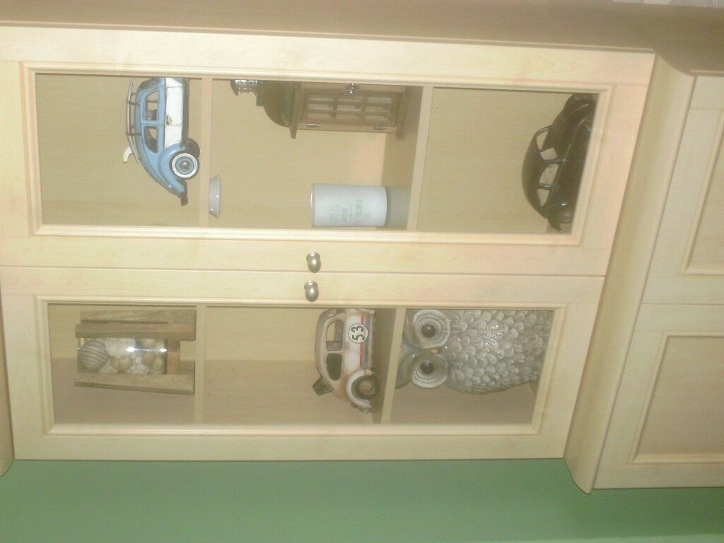 Wall Unit with glass doors | in Stechford, West Midlands | Gumtree
