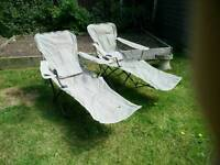 2 x reclining camping chairs