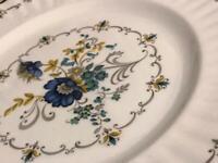 Five English bone china dinner plates