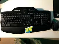 Logitech mk710 mouse and keyboard.