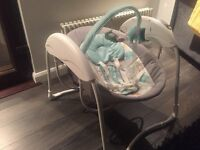 Graco Glider Baby Swing, Sleepyhead Deluxe pod (baby nest) and breastfeeding pillow