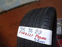 1 of 315 35 20 pirelli p-zero runflat 6mm tread £60 supp & fitd (X5 rear tyre(LOADS MORE AV 7-DAYS)