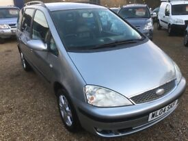 2004 FORD GALAXY GHIA 1.9 TDI GREY WITH REAR DVD ENTERTAINMENT. LOW MILEAGE ONE PREVIOUS OWNER