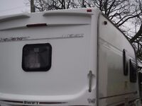 Swift Challenger 480SE Caravan, including extras like Porch Awning, Microwave etc.Ready to enjoy!
