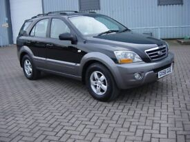 KIA SORENTO 2.5 CRDI XE AUTO. 2009.***RECENT RAC REPORT ***.BLACK WITH GREY LEATHER.TRULY SUPERB.
