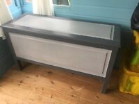 Painted pine blanket chest/trunk, v.sturdy/solid