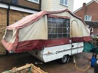 6 berth folding camper with awning and extras