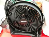 Beldray black tilt turbo desk fan
