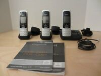 GIGASET C430A CORDLESS PHONE SYSTEM WITH ANSWERING MACHINE LIKE NEW!