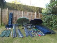 full match and pole fishing set up