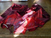 Four 100% silk scarfs vintage Harrods , East , silk velvet and genuine pashmina
