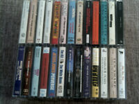Massive collection of over 100 audio cassette tapes from 1970's-2000's