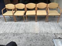 6 heavy dining room chairs £45