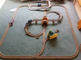 Thomas train track with a couple of Thomas Trains