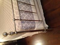 King size box spring and chrome bed frame
