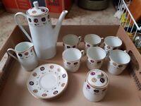 Vintage Walbrzych coffee set with coffee pot