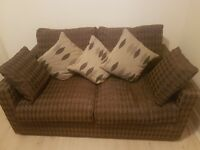 Small custom made sofa bed in perfect condition plus free curtains. Collection only