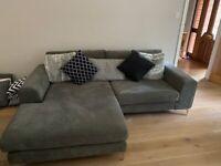 Grey sofa and snuggle chair