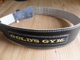 Golds Leather padded weight lifting belt - Large