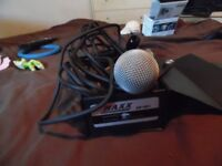 maxx dynamic microphone am-58h with lead cable boxed 10 quid