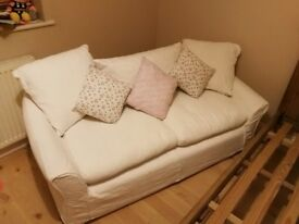 *Open to offers* White 2 seater sofa