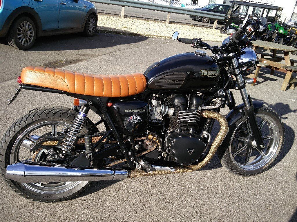 Triumph Bonneville Se Custom Bratcafe 2012 12 7000 Miles With