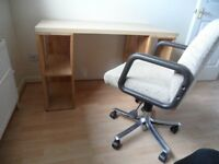 Desk and swivel chair for sale