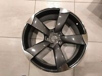 "NEW 4 x 19"" inch Audi Rotor Arm Alloy Wheels Grey A3 A4 A5 A6 RS3 RS4 RS5 RS6 S5 S3 S4 TTRS lryacl"