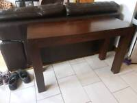 Dark solid wood Console Table