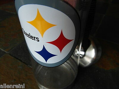 Clip On Water Bottle   Pittsburgh Steelers   Bpa   Lead Free  Stainless Capbase