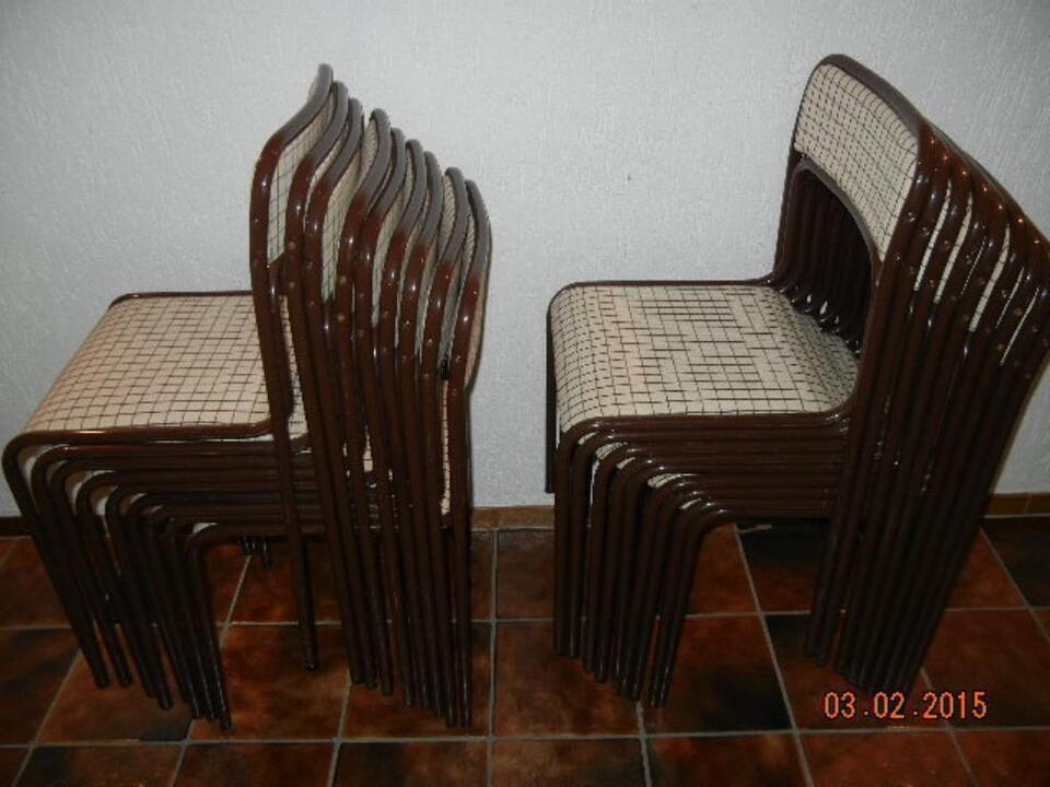 Stühle Ancona braun, stapelbar, gebraucht, sh. Fotos in Nordrhein-Westfalen - Meerbusch