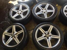 "18"" MERCADES ALLOY WHEELS C CLASS E CLASS CLK SLK SET OF 4 sh"