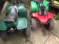 Quads 50cc x2 spares or repair
