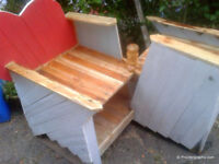 Garden Bench . Handemade ' Courting style'