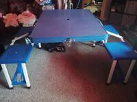 folding picnic / camping table with seats