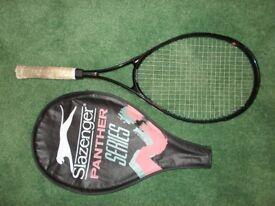 Slazenger panther ultra slim aluminium / titanium alloy racquet plus cover £7.50