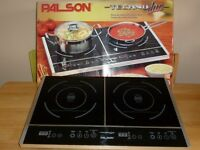 Twin plate, table top, induction hob in excellent condition. Perfect for small flat or caravan.